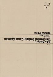 John Ashbery, One Hundred Multiple-Choice Questions, Cover, Benway Series 3