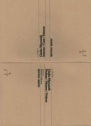 Feuille/Foglio 1, Giulio Marzaioli, Dedans / Maison / Dehors | Interno / Casa / Esterno