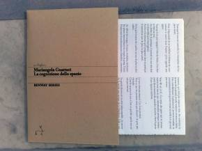 Mariangela Guatteri, La connaissance de l'espace | La cognizione dello spazio, Foglio3