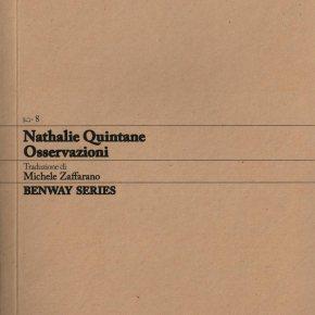 Nathalie Quintane, Osservazioni / Remarques, Benway Series8