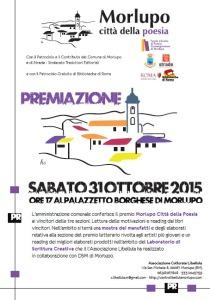 Premio Morlupo, 2015. Manifesto premiazione