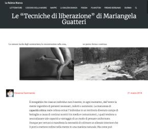 """Giovanna Gammarota su """"Tecniche di liberazione"""" [La BalenaBianca]"""