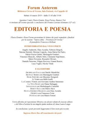 Editoria e Poesia. Benway Series parteciperà al «Forum Anterem».Verona