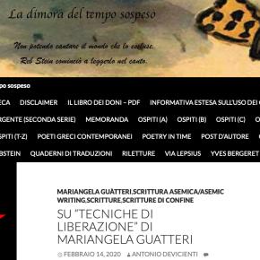"""Su """"Tecniche di liberazione"""" di MariangelaGuatteri"""