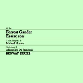 Forrest Gander, Essere con / Be With, Benway Series 14