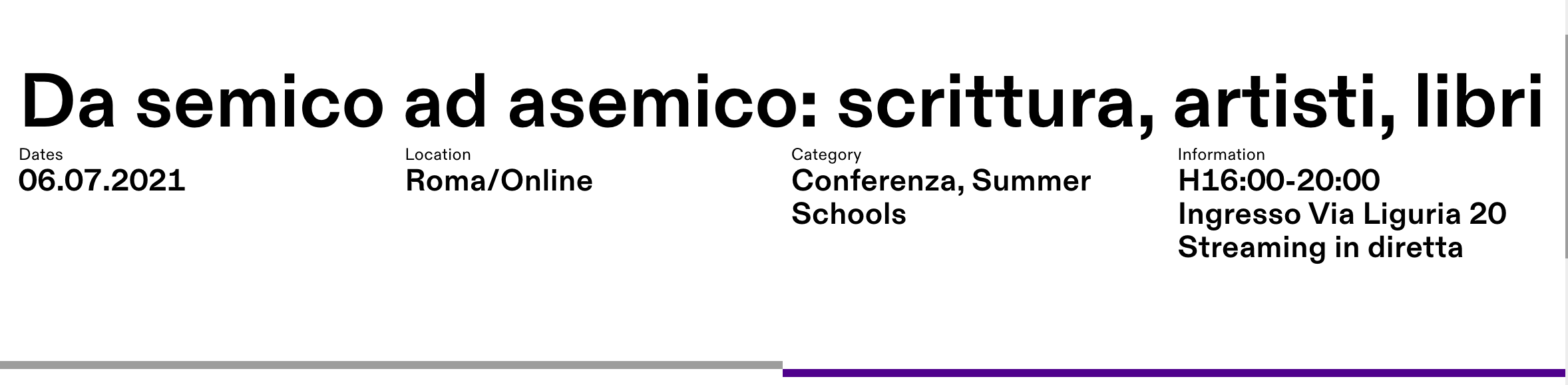 Benway Series @ Summer School in Rome