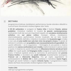 «La cosa fra le cose»: Milano, Teatro Litta, 25-26settembre