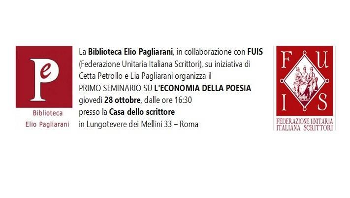 L'economia dellapoesia, seminario. Roma, 28 ottobre